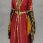 Женская одежда. Адыгея. Начало XX в. Платье — сай, нагрудник, подвески нарукавные (пара), воланы нарукавные (пара), нижняя юбка, пояс
