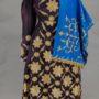 Женская одежда. С. Чох, Гунибский р-н, Дагестан. Конец XIX — начало XX вв. Платье, штаны, головное покрывало